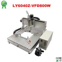 Wholesale Vfd Free Shipping - Free shipping! 3 axis Wodd cnc router engraving machine LY CNC 6040 Z-VFD with 800W spindle for Assembled & tested well
