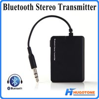 Wholesale Mini Tv Mp4 - Mini Bluetooth Music Transmitter BT 2.1 EDR Audio Transmitter A2DP Stereo Dongle Adapter for TV iPod Mp3 Mp4 PC