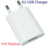 телефоны s4 оптовых-Wholesale New 2016 5V 1A EU AC USB Wall phone charger for apple iphone 5 5s iphone 4 4s samsung galaxy s4 i9500 s3 note 2 Free shipping