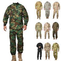 Wholesale Bdu Xxl Pants - Men Tactical jacket sets cargo pants uniform waterproof camouflage tactical bdu combat uniform camo men clothing