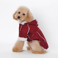 Wholesale Cashmere Dog - Pet Dog Sweater Coat dog Clothes Autumn Warm Defensive Cold Cotton Puppy Cashmere Dogs Sweatershirt dog dress 3color Four legs Padded clothe