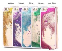 Wholesale iphone dynamic sand case - Cellphone Back Cover Dynamic Liquid Glitter Sand Quicksand Star Case For iphone Plus Crystal Clear For iphone