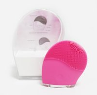 Wholesale Silicon Cleaning Brush - Super Clean Machine Waterproof Sonic Facial Cleaning Face Brush Cleansers Silicon Vibrating Pink