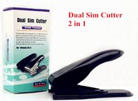 Wholesale Micro Sim Card Cutter 4s - Dual Micro Sim Cutter for iPhone 6 Plus 5S 5C 5 4s 4 with Nano Micro Standard SIM Card Adapter Sim Card Tray Holder Simon2010 US1