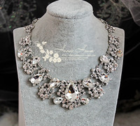 Wholesale Evening Earrings Crystal - Twinkle Plated crystal wedding bridal jewelry sets rhinestone necklace and earrings 2-piece Diamond Designer Evening Bangles Accessories