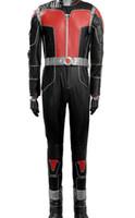 disfraces de hormigas al por mayor-2015 nuevo traje de cuero de la ropa cosplay Ant-Man boutique de gama alta Avengers un conjunto, traje de cosplay de Ant-Man de moda
