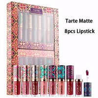 Wholesale Lip Gloss For Girls Wholesale - Tarte Posh Pout Quick Dry Matte Lipstick 8 piece Lips Mini Lip Gloss For Women Girls Beauty Makeup Lipsticks Paint Sets Brand New