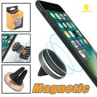 Wholesale Universal Smartphone Mount - Car Mount holder Clip 360 Degree Universal Magnetic Air Vent Mount Smartphone Dock Mobile Phone Holder PC CellPhone Holder Stands for iphone