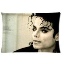 Wholesale Michael Jackson Pillowcase - Decorative Michael Jackson Pattern Twin Side Fashion Custom Rectangle Best Pillowcase Pillow Case Cover 20X30 Inch