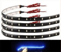 Wholesale 12 Led Strip Yellow - New 10Pcs 30cm blue green red white waterproof Light 5050 12 SMD High Power Flexible LED Car Strips