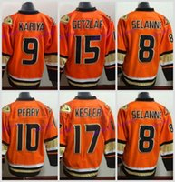 Ice Hockey Men Full 2016 Anaheim Ducks New Alternate Orange Hockey Jersey  15 Ryan Getzlaf 10 8e379c347