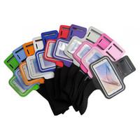 brazalete de la correa del caso del iphone al por mayor-Para iPhone X Armband Case para iPhone 6s 7 8 para Galaxy S8 S7 S3 S4 S5 S5 S6 Sport Gym Correr cinturón a prueba de salpicaduras cubierta 20pcs / up