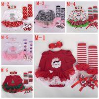 Wholesale American Girl Zebra Dress - baby Zebra tutu rompers dress set Christmas Romper dress +baby ruffles legwarmer + cotton walking shoes + girl crochet headbands