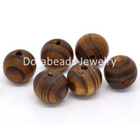 Wholesale Coffee Round Wood Spacer Beads - Wholesale-hot- 100 Coffee Round Wood Spacer Beads 11mm (B14230)