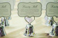 Wholesale wedding bell place cards - 2015 Free shipping 50pcs lot Wedding Party favor Kissing Bell Place Card Holders