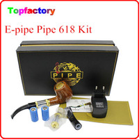 Wholesale E Health Cigarettes - E pipe 618 Health Smoking Pipe Electronic Cigarette With Best Package old-fashioned style electronic smoking pipe starter kit Free DHL