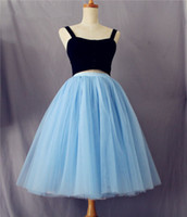 Wholesale Hot Mini Skirt Party - 2016 Hot Tutu Skirt for Women Party Gowns Custom Made Summer Pleated Skirt for Evening Formal Party