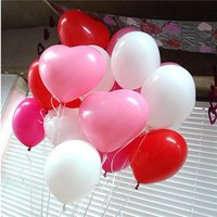 doğum günü kalp balonları toptan satış-Sıcak 50 adet / grup 10 inç dayanıklı renkli Novetly Düğün Doğum Günü Partisi Dekorasyon Balonlar Aşk Kalp Şekli Lateks Balonlar