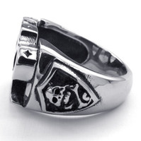 Wholesale Wholesale Stainless Steel Jewellery China - Mens Fashion Jewellery, Gothic Style For Man Biker Silver Tool Rings Hot Selling 316L Stainless Steel Bone Skull Rings US 8-13