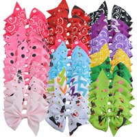 Wholesale hair clips little girl ribbon - 40pcs Little Girl 3 Inch Grosgrain Ribbon Hairbows With Alligator Clip Kids Small Hair Clip Pin Girls Hair Accessories Free Gift