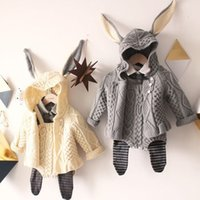 Wholesale Childrens Cardigan Sweaters Wholesale - Wholesale-Girls Boys Baby Childrens Sweater 2016 New Autumn Winter Bow Cardigan Fashion Long Sleeve Button Cardigan Coat Outerwear ZZ-969