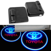 Wireless Car Door LED Projector Light Cortesia Welcome Logo Light para Toyota (1Pair)