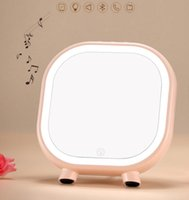Wholesale Cat Portable Speakers - Lazy cat led makeup mirror Bluetooth speaker With light rechargeable LED Portable Mini Speaker TF Card Subwoofer Speaker