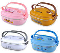 Wholesale Stainless Steel Thermal Insulated Bento Lunch Box for Kids Portable Sushi Lunchbox Food Container Kitchen Accessories Tableware