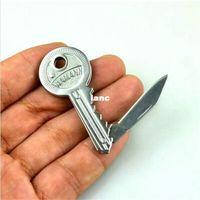 Wholesale Carbon Key Chain - Mini Key Knife Fold Key Pocket Knife Key Chain Knife Peeler Portable Camping Key Ring Knife Tool