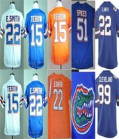 Personalizzato Florida Gators 22 Emmitt Smith 51 Brandon Spikes 6 Jeff Driskel 15 Tim Tebow 12 John Brantley College Football Jersey cucita