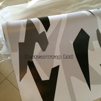 Wholesale Camo Vinyl Wrap Roll - Large Arctic Camo Vinyl Wrap Film For Car Wrap Snow Arctic Camouflage Sticker Unique Wrapping   Air Release Vehicle Wrap 1.52 x 30m Roll
