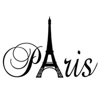 2017 New Arrival English Character Pattern Removable Love Paris Black Eiffel Tower French France Decal Home são adesivos de parede