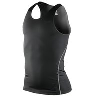 Wholesale Mens Cycling Vest Xl - Wholesale-Cycling Compression Sleeveless Jerseys Mens Base Layer Quick Dry Tank Tops Vest Shirt SportswearTP95