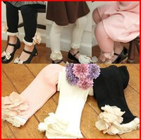 Wholesale cotton cute children tights for sale - Group buy 2015 Children Flower Leggings Tights Kids Trouser Skinny Pants Child Clothing Girls Cute Lace Tights Fashion Princess Leggings Girl Clothes