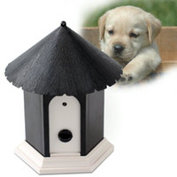 Wholesale Ultrasonic Outdoor Bark Control - Hot sale Pet Dog Supplies Trainings Collar Pet Products Puppy Outdoor Ultrasonic Anti Barking Control Birdhouse Bark Stop Sonic Pet Dog Su