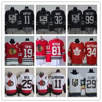 2017-18 stagione mens maglie 11 Travis Konecny ​​32 Jonathan Quick 97 Connor McDavid 34 Auston Matthews 99 Wayne Gretzky 29 Marc-Andre