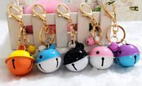 Wholesale Keyring Wedding Favors - Wedding Party Favors Christmas Bells Keychain Keyring Key Chain Ring Bag Charm Pendants women child Birthday personalised Gift