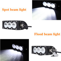 Wholesale Leds Lights For Trucks - Free DHL Led light bar 30W 2550LM high intensity US CREE LEDS LED Spot Flood Light Bar for 4wd Offroad Truck and Boat