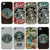 Wholesale Galaxy S4 Cool Covers - 2016 Cool Starbucks Coffee Case For Apple iPhone 5S 6 Plus Star Wars For Samsung Galaxy S4 S5 Mini S6 Edge Cover