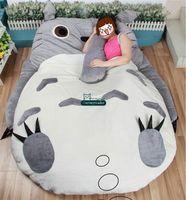 totoro bed al por mayor-Dorimytrader 200 cm X 160 cm Japón Anime Beanbag Suave Felpa Totoro Cama Alfombra Tatami Colchón Sofá 2 Modelos Bonito Regalo Envío Gratis DY60327