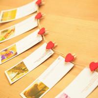 Wholesale Love Photo Clip - love shape Snacks clip household decorative clip Wedding decorating Photo sorting clip personality household decoration supplies IA947