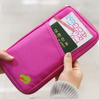 1 PC Unisex Viagem Passport ID Credit Cash Card Wallet Purse Detentor Organizer Documento Bag Handbag Zipper Maquiagem