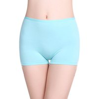 Wholesale Antibacterial Underwear Women - 2 Pc Lot Girls boxer brief Panties Solid Modal Quality TRUNK Undies comfortable Women antibacterial Underwear Lingerie Knicker boy shorts