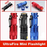 UltraFire Mini lampe torche 300LM CREE Q5 LED Zoom In / Out Torch 3-Mode 14500 DHL gratuit