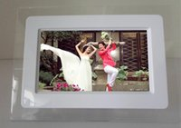 Wholesale Flash Picture Framing - 7 inch HD LCD Screen Desktop Digital Photo Frame Calendar Digital Picture Display Frame with Calendar Support Tf Sd Flash Drives