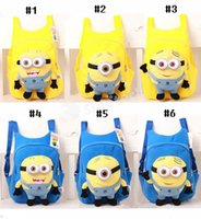 Wholesale Despicable Plush Bags - Fashion Cartoon Despicable Me Backpack Cute Children Plush Minions Animals Toy School Bags Shoulders For Kids Boys Girls Factory Free EMS