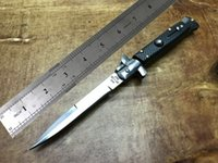 Wholesale fiber fox - Italian style automatic knife Carbon fiber texture hilt 9 inch fox knife Free shipping