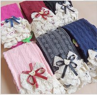 Wholesale Crochet Lace Dress For Girls - 2016 Spring Autumn Girls Crochet Pants Lace Elastic Leggings for Dress Children Girls Clothes 6 Color K6810