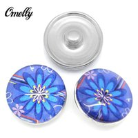 Wholesale Cheap Holiday Accessories - NOOSA Chunks Personality 18mm Glass Noosa Ginger Interchangeable Snap Buttons DIY Jewelry Accessory Ginger Snap Jewelry Cheap