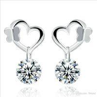 ingrosso modelli di orecchini coreano-Modelli di esplosione orecchini a farfalla argento orecchini femminili gioielli di moda coreani coreani orecchini carini orecchini di diamanti
